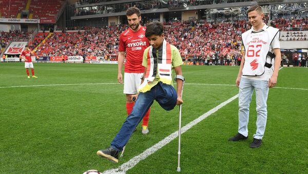 Kasim Alkadim z Iraku obejrzał mecz piłki nożnej w Moskwie - Sputnik Polska