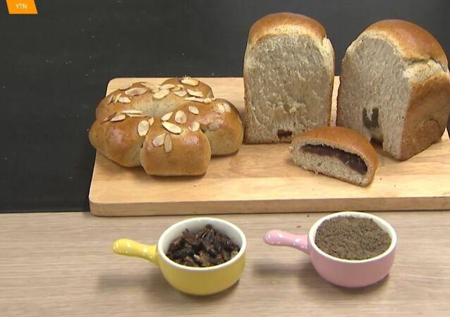 Chleb z jadalnych świerszczy