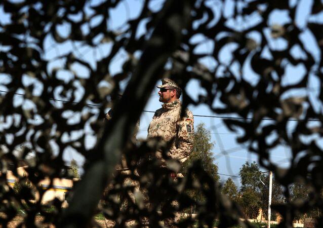 Niemiecki żołnierz w Iraku