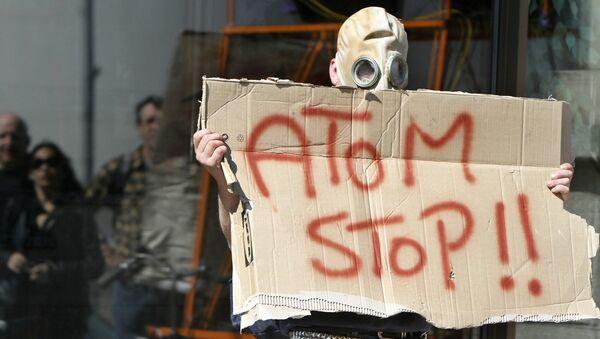 Antynuklearny protest w Warszawie. Zdjęcie archiwalne - Sputnik Polska