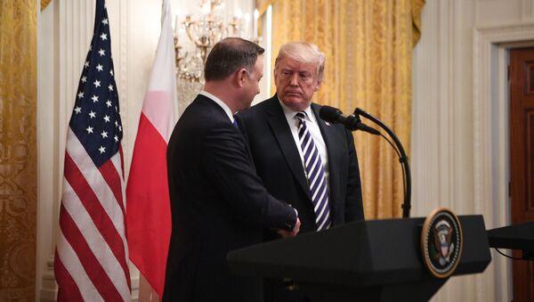 Prezydent USA Donald Trump i prezydent Polski Andrzej Duda - Sputnik Polska