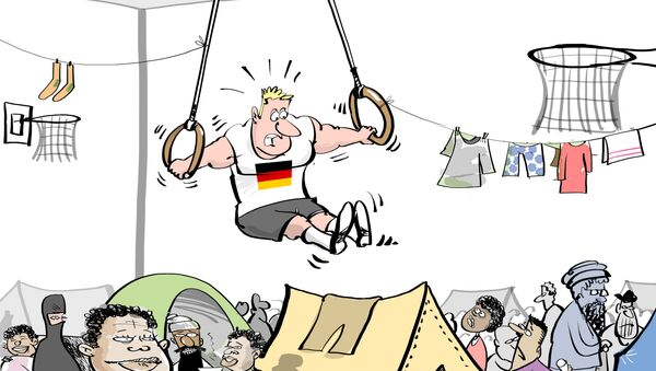 Tajny plan Niemiec: czy z imigrantów zrobią sportowców? - Sputnik Polska