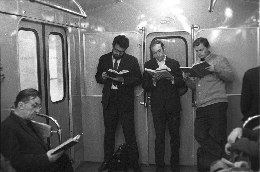 Pasażerowie moskiewskiego metra, 1973 rok
