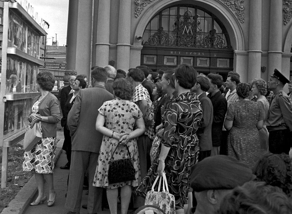 Wejście do moskiewskiego metra, 1962 rok