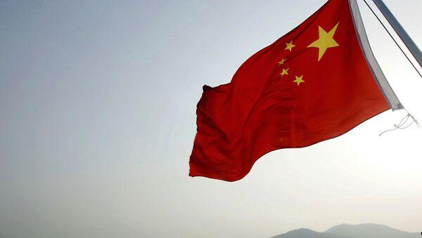 Chińska flaga w porcie Zhoushan  - Sputnik Polska