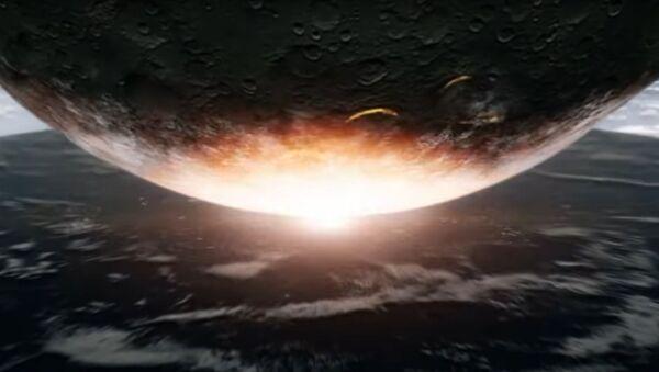 Kadr z wideo kanału Discovery Co będzie, jeśli na Ziemię upadnie gigantyczna asteroida? - Sputnik Polska