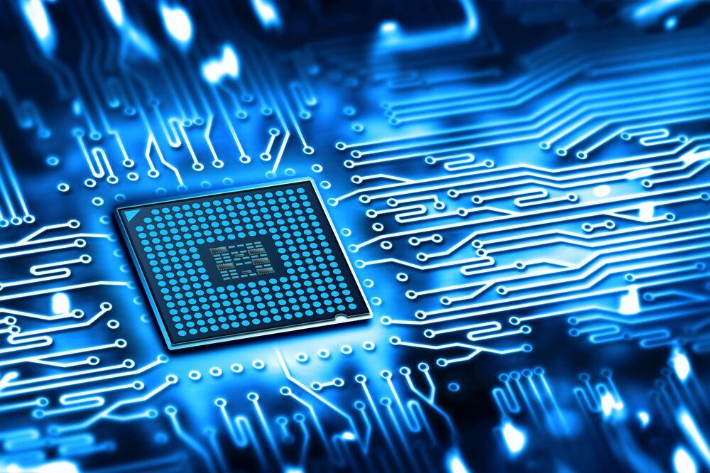 Microchip komputera.