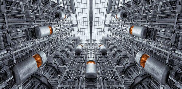 Artystyczny obraz futurystycznych wind - Sputnik Polska