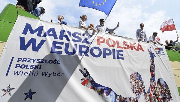 """Marsz Koalicji Europejskiej """"Polska w Europie"""" w Warszawie - Sputnik Polska"""