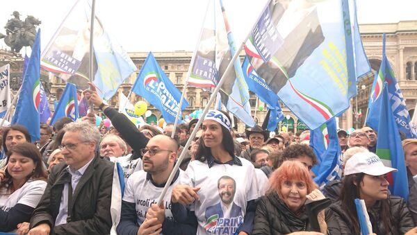Miting Matteo Salviniego, Mediolan - Sputnik Polska