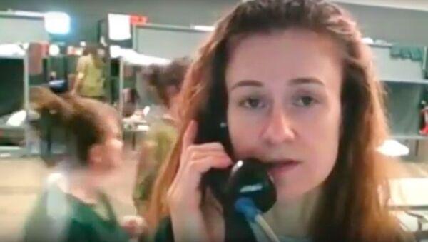 Maria Butina, kadr z nagrania - Sputnik Polska