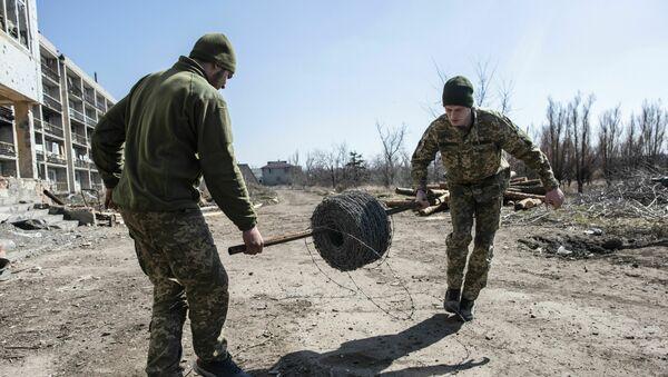 Ukraińscy żołnierze niedaleko miejscowości Marjinka w obwodzie donieckim - Sputnik Polska