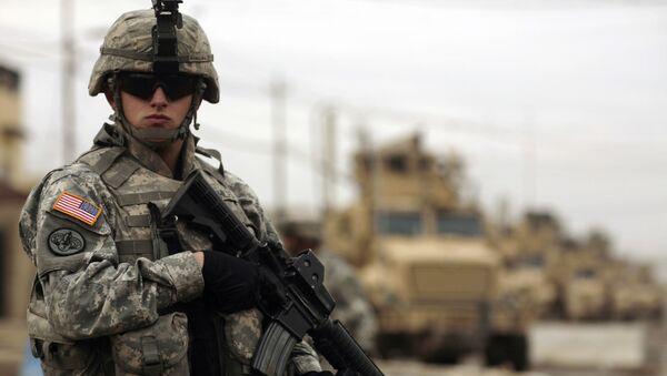 Żołnierz amerykańskiej armii w Iraku - Sputnik Polska