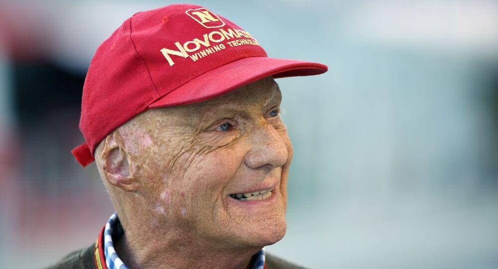 Austriacki kierowca wyścigowy Niki Lauda