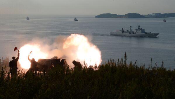 Strzelcy Brygady Morskiej Floty Pacyfiku w porcie Władywostok, 2017 rok - Sputnik Polska