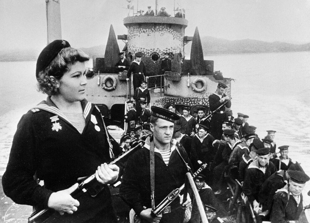 Spadochroniarze Floty Oceanu Spokojnego, 1945 rok