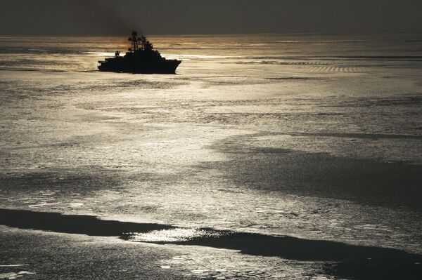 """Duży okręt podwodny Floty Pacyfiku Federacji Rosyjskiej """"Admiral Tribuc"""", 2017 rok  - Sputnik Polska"""