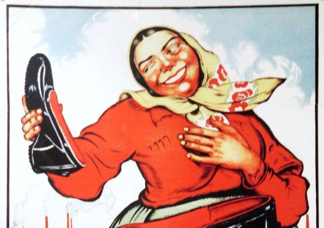 Radziecka reklama kaloszy