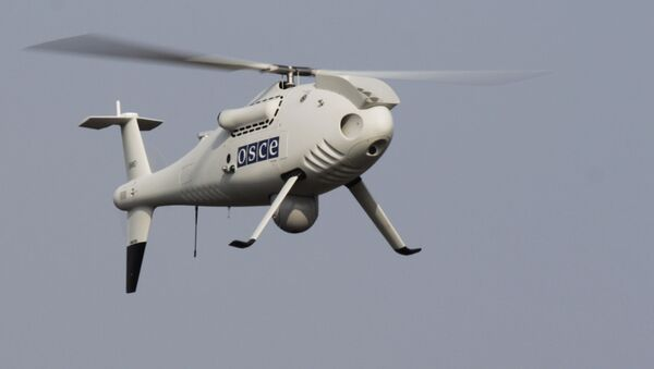 Bezzałogowy aparat latający misji OBWE na wschodzie Ukrainy - Sputnik Polska