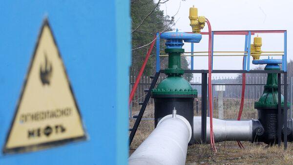 Odcinek rurociągu Przyjaźń w rejonie mozyrskim na Białorusi - Sputnik Polska