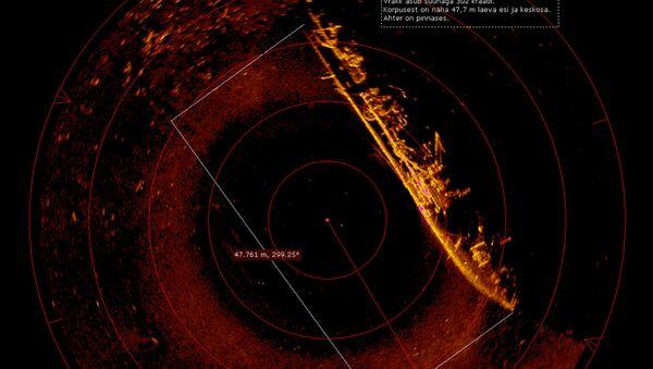 Screenshot z hydrolokatora - Sputnik Polska