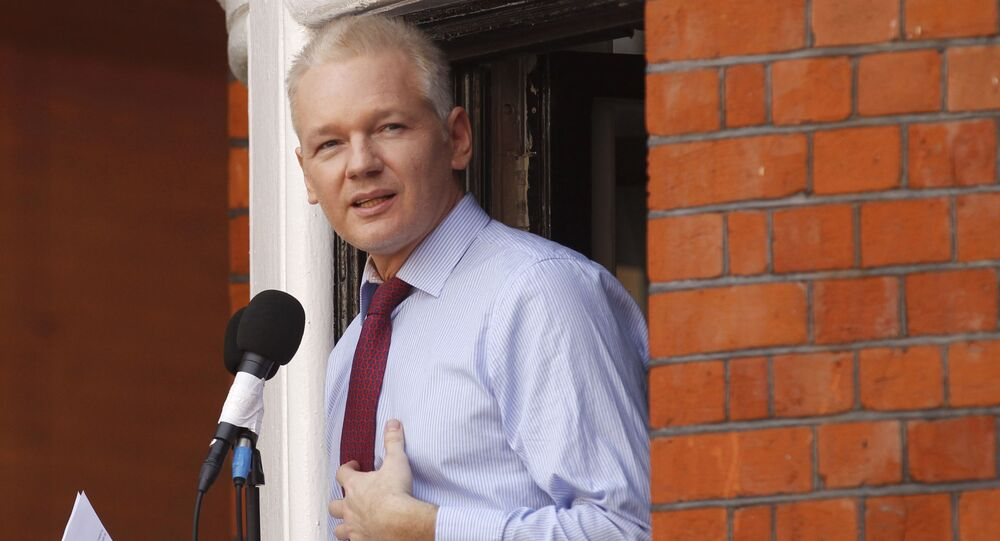 Założyciel WikiLeaks Julian Assange. Archiwalne zdjęcie