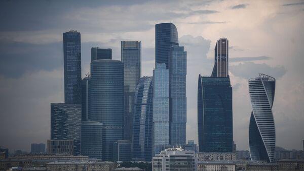 Widok na Moskiewskie Międzynarodowe Centrum Biznesowe (Moskiewskie City) - Sputnik Polska