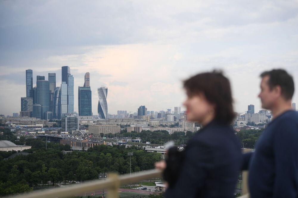 Punkt widokowy na Wzgórzach Worobiowych w Moskwie