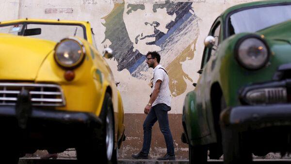 Graffiti z Che Guevarą w Havanie - Sputnik Polska