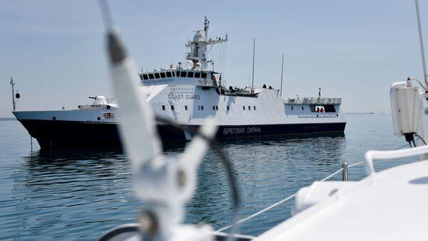 Praca Straży Przybrzeżnej FSB Federacji Rosyjskiej w Cieśninie Kerczeńskiej - Sputnik Polska
