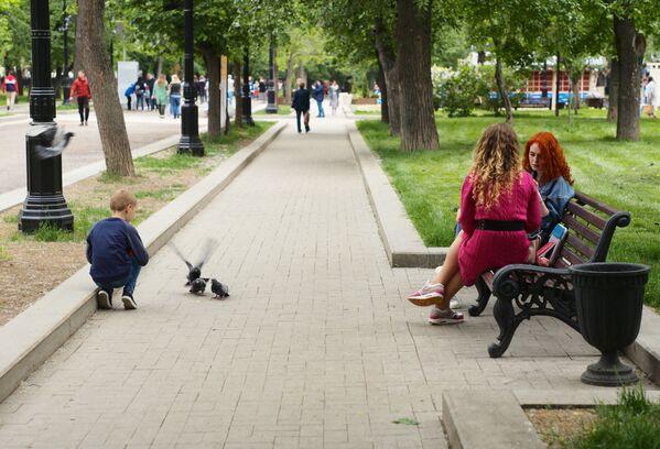 Bulwar Twierskoj w centrum Moskwy - Sputnik Polska