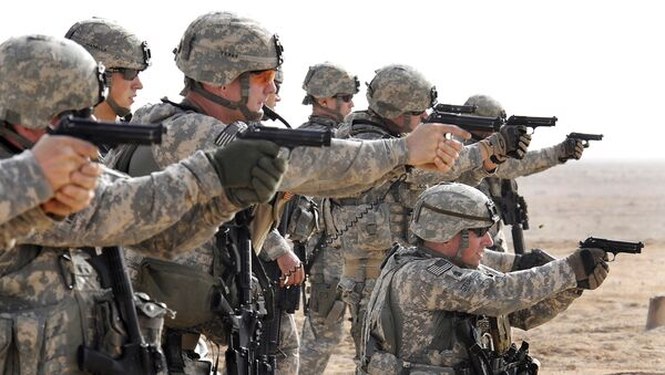 Amerykańscy żołnierze na szkoleniach w Iraku - Sputnik Polska