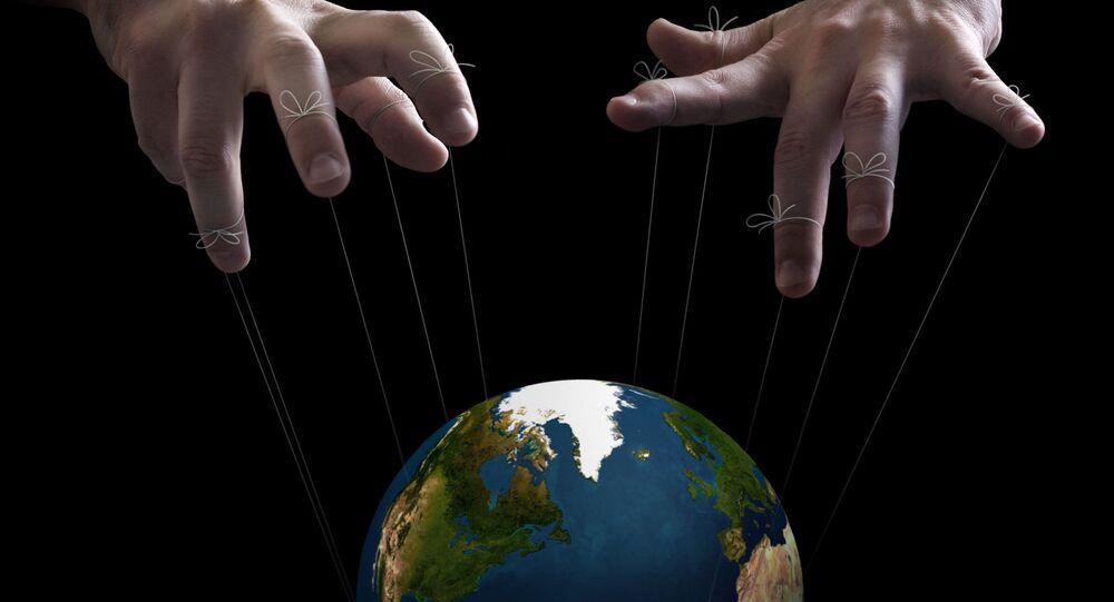 Ręce rządu światowego, dążącego do pełnej władzy nad ludźmi