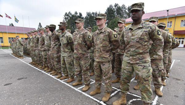 Żołnierze USA na Ukrainie - Sputnik Polska