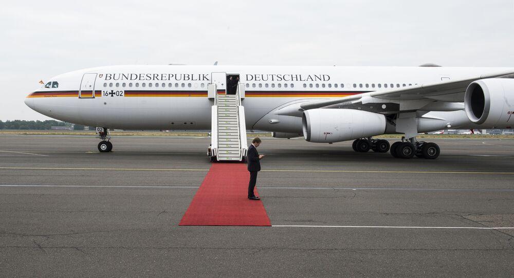 Niemiecki samolot rządowy Airbus A340 Theodor Heuss