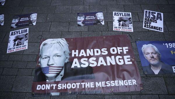 Poparcie dla Assange'a - Sputnik Polska