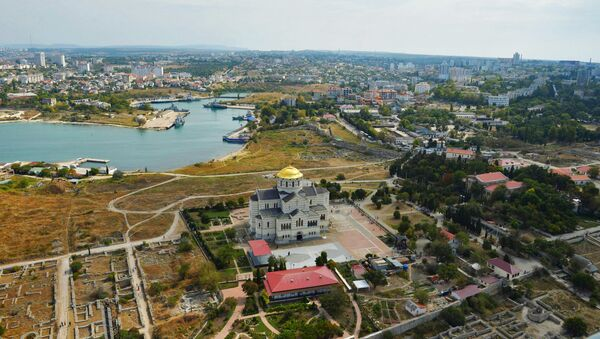 Widok na miasto Chersoń na Krymie - Sputnik Polska