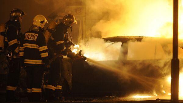 Czescy strażacy, archiwalne zdjęcie - Sputnik Polska
