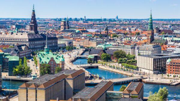 Widok na centrum Kopenhagi, Dania - Sputnik Polska