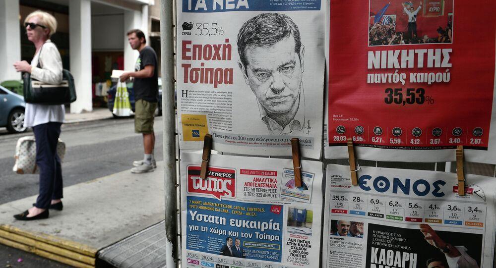Czołówki gazet po zwycięstwie Syrizy