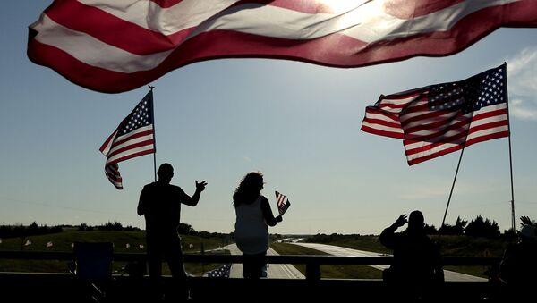 Flagi USA - Sputnik Polska