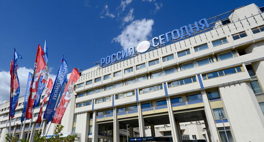 Budynek MIA Rossiya Segodnya w Moskwie