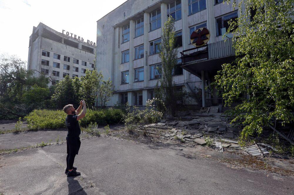 Budynek w mieście Prypeć