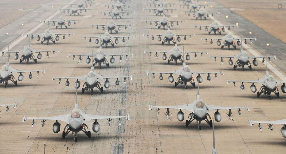 Myśliwce F-16 amerykańskich Sił Powietrznych
