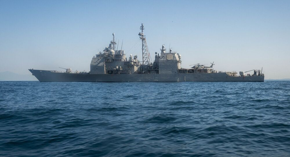 Amerykański krążownik USS Chancellorsville