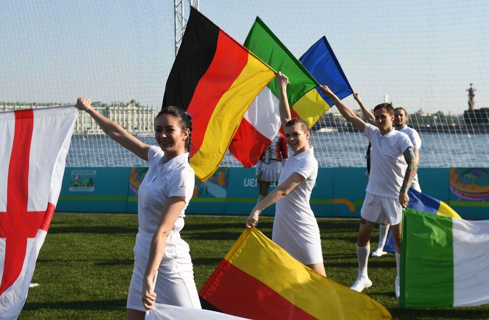 Otwarcie parku piłkarskiego Euro-2020 w Petersburgu.