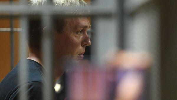 Dziennikarz niezależnego portalu Meduza Iwan Gołunow, oskarżany o nielegalny obrót narkotykami na posiedzeniu sądu - Sputnik Polska