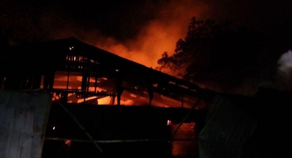 Pożar w szpitalu psychiatrycznym w Odessie