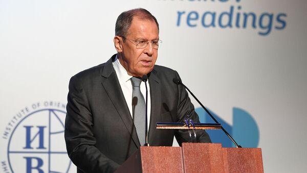 Minister spraw zagranicznych Rosji Siergiej Ławrow na międzynarodowym forum Primakowskie czytania - Sputnik Polska