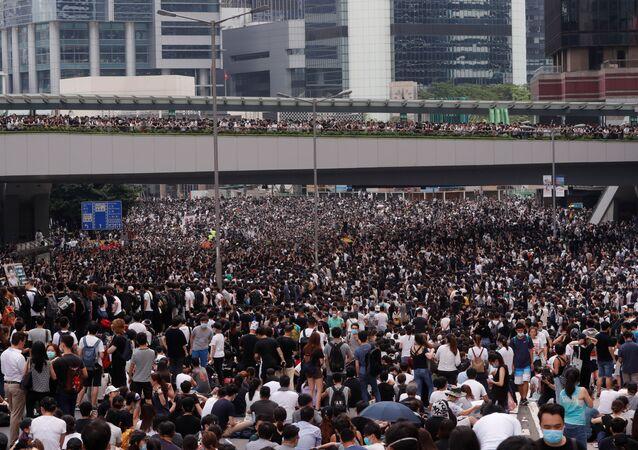 Protesty Hongkong